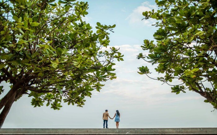 A couple in Marine Drive