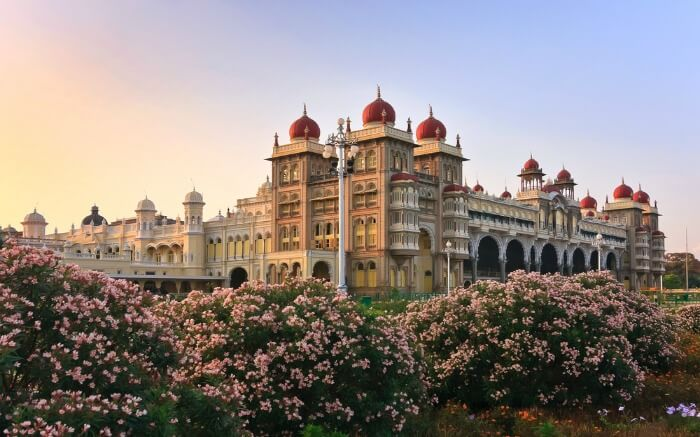 Mysore Palace during sunset