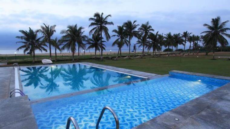 9 fabulous pondicherry resorts near beach where one must stay in 2019 for Beach resort in chennai with swimming pool
