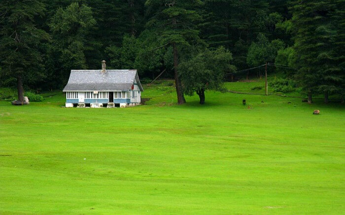 Shot of a colonial house in Khajjiar