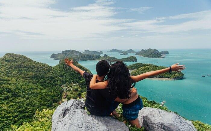 A couple in Koh Samui