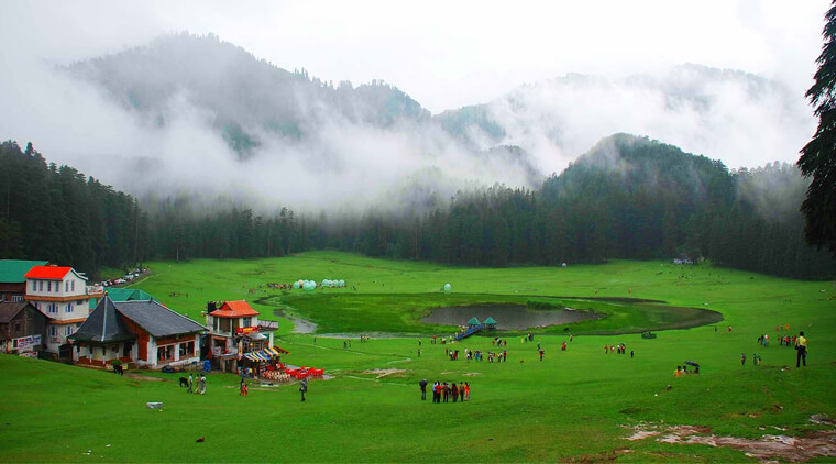 View of Khajjiar in a cloudy dayss08042017