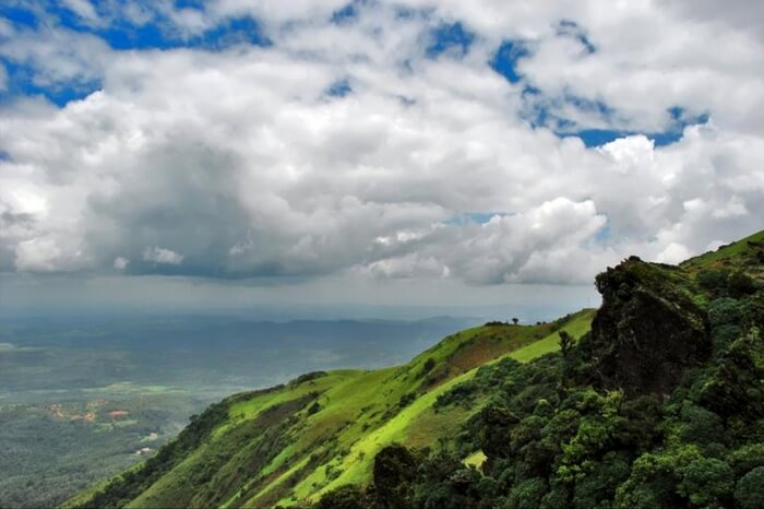 Hill top view of Chikmagalur