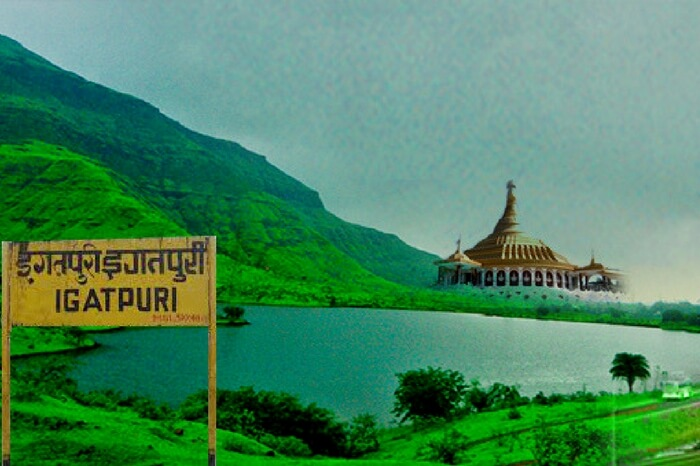 Riverside view of Igatpuri in maharashtra during monsoon