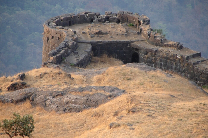 View from the top of the fort in Shrivardhan