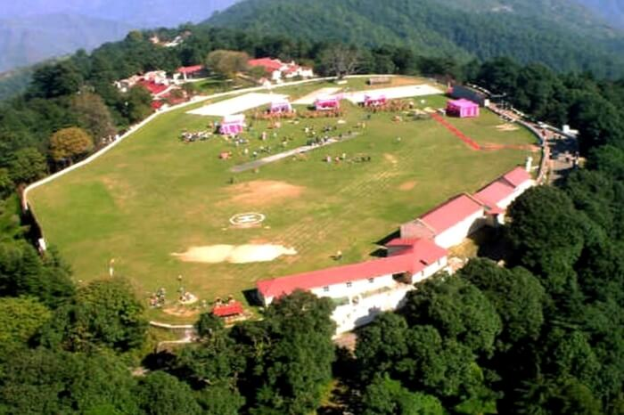 Top view of ground in Chail