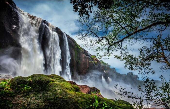 The glorious Athirapally Waterfalls in Thrissur