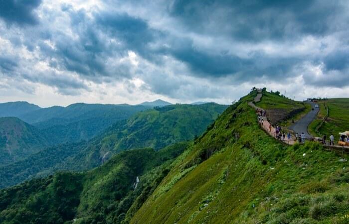 Tourists enjoying nature view in Parunthumpara Idukki
