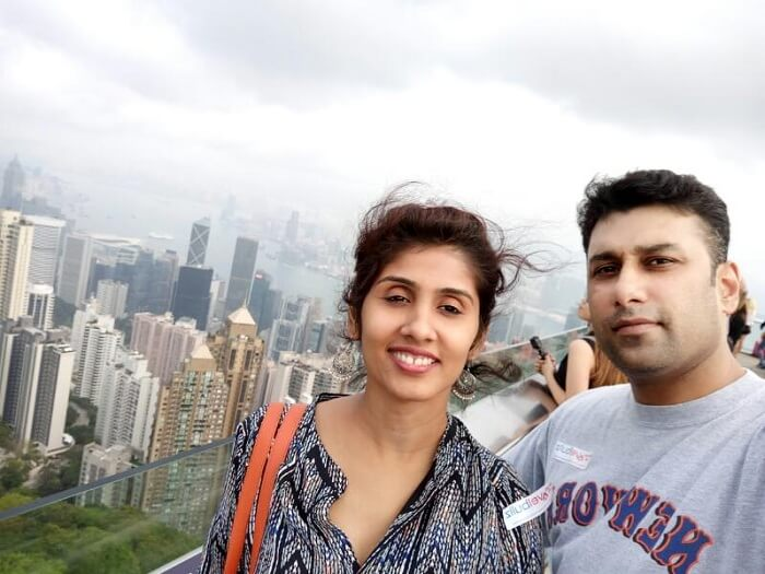 Pradeep and his family take the Hong Kong city tour
