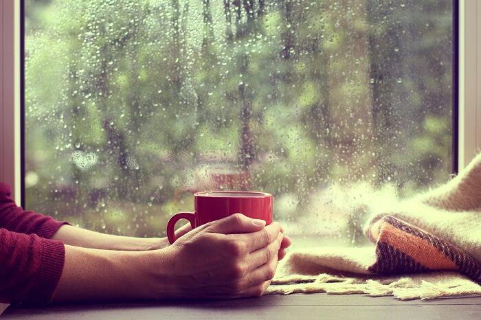 enjoying rain at theobroma