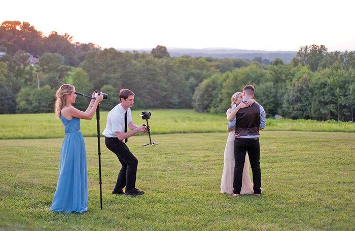 Photographer in wedding