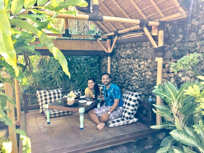 Sairam and his wife spend their honeymoon in bali