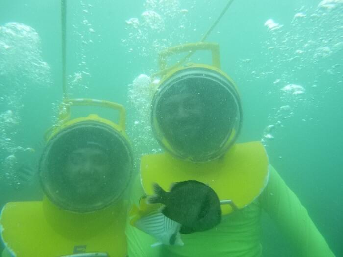 underwater sea walk in bali