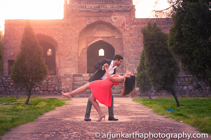 pre wedding shoot at the humayun's tomb in delhi