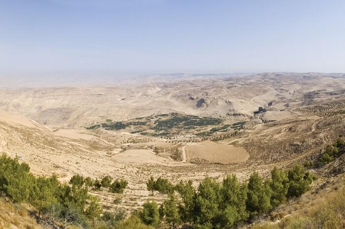 A snap of Mount Nebo in Jordan