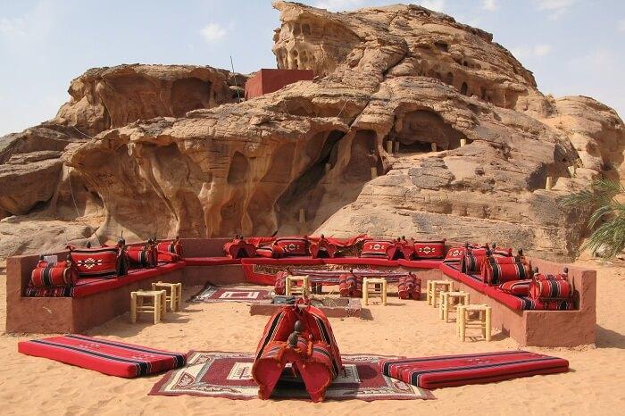 A snap of the campsite of Wadi Rum in Jordan