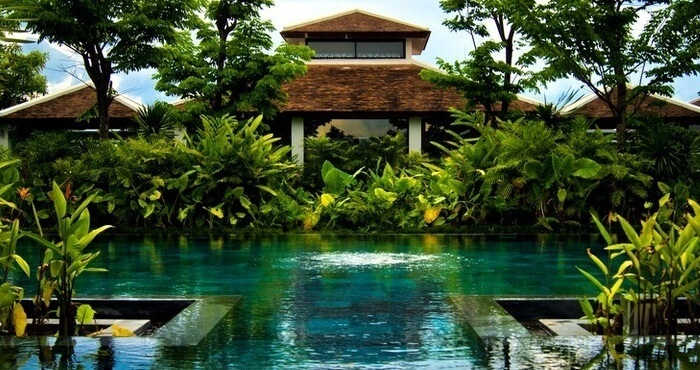 A secluded pool at the Fusion Resort in Danang
