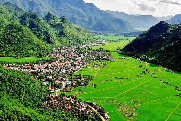 The green valley of Mai Chau in Vietnam