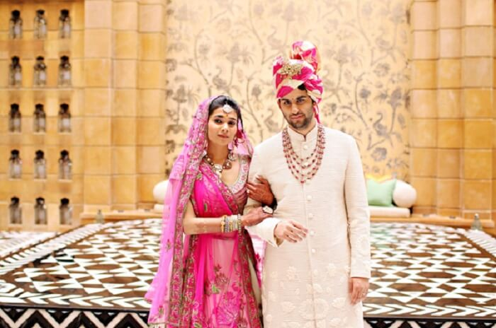 couple getting married at leela palace