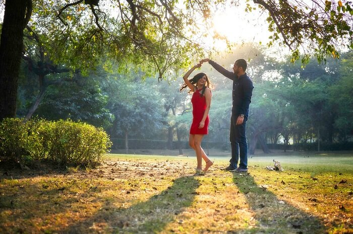 prewedding shoot at lodhi garden