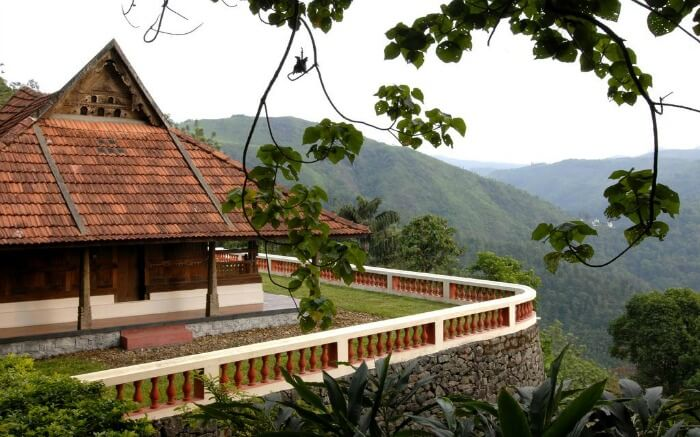 mountain view from Paradisa Plantation Retreat in Thekkady