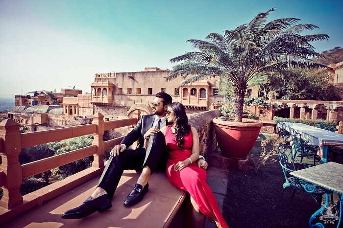 pre wedding shoot at the neemrana fort and palace