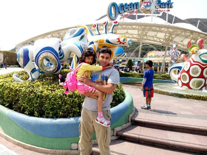 Visit to the Ocean Park in Hong Kong
