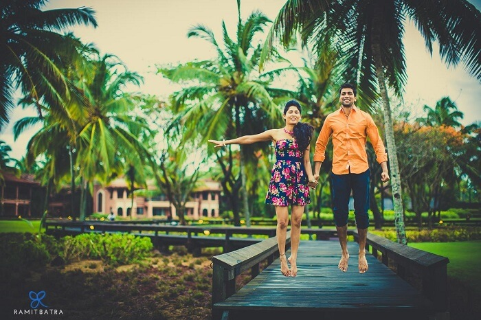 pre wedding shoot at the park hyatt resort and spa goa