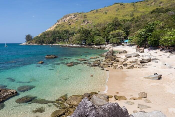 Beautiful and hidden Ao Sane beach in Phuket