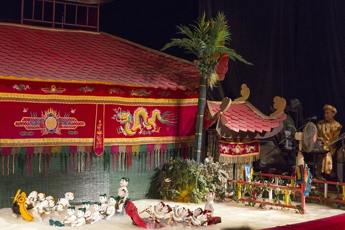 Vietnamese water puppet show at Golden Dragon Water Puppet Theater in Ho Chi Minh city