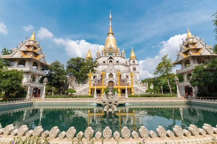 A snap of the Buu Long pagoda in Ho Chi Minh City of Vietnam
