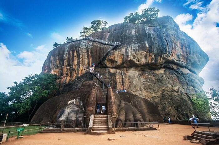 A snap of the lion rock of Sigiriya in Sri Lanka