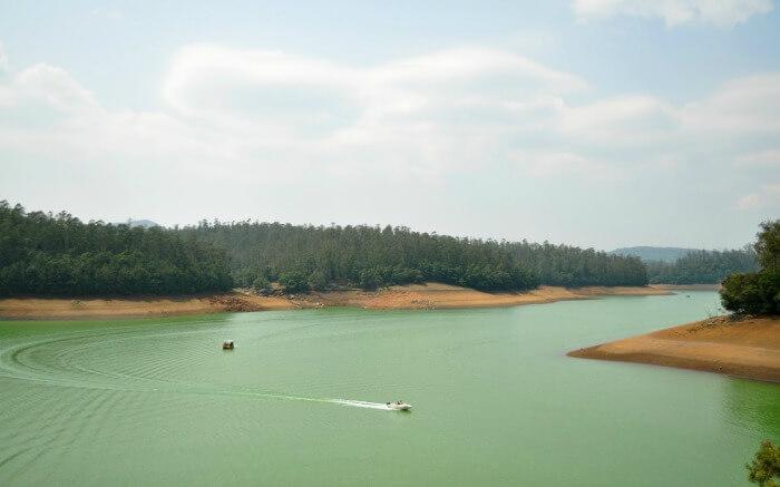 two speed boats on Pykara Lake