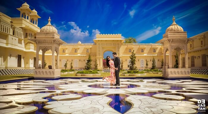 pre wedding shoot in udaivilas
