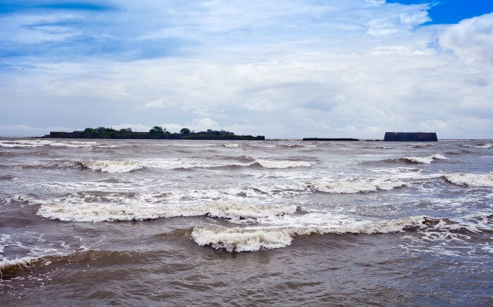 water waves at Alibaug beach