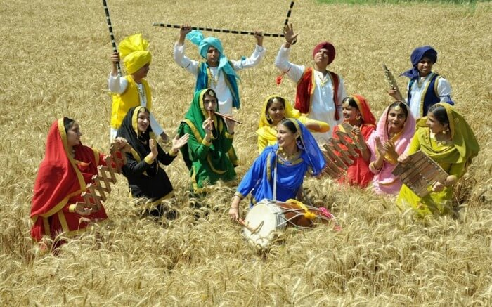 women wearing traditional clothes on Baisakhi day