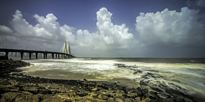 view of sealink during monsoon