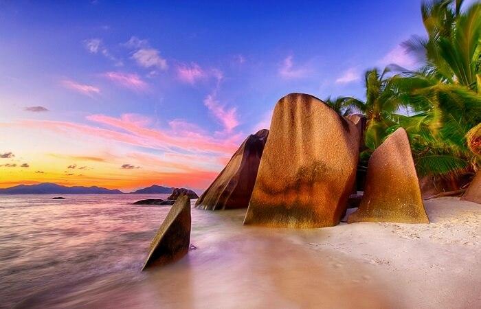 private beach in Seychelles