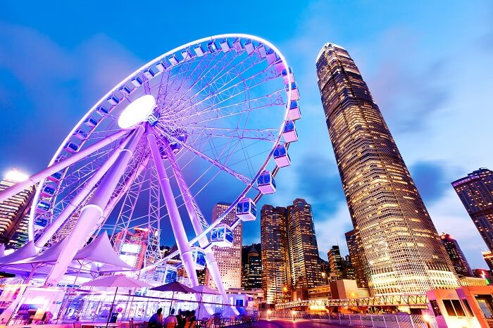 skyline views of Hong Kong