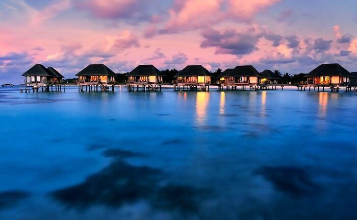 over water villas in Maldives
