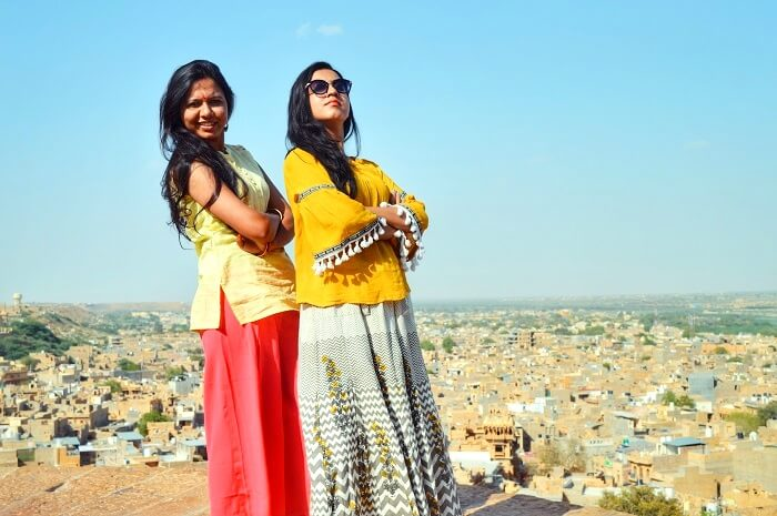 posing at jaisalmer fort