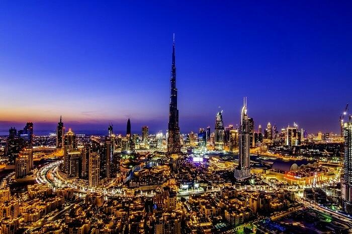 Dubai skyline views