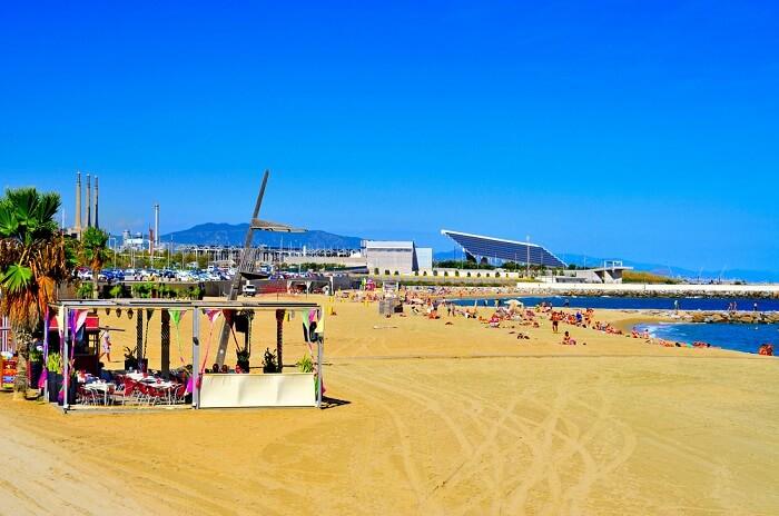 Nova Mar Bella beach in Barcelona