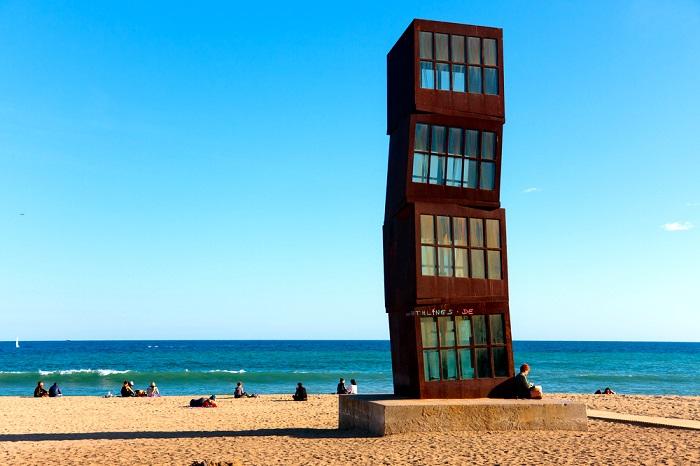 Sant Sebastià beach in Barcelona