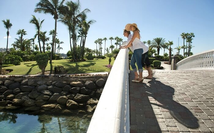 A couple in Anfi del Mar Resort in Spain