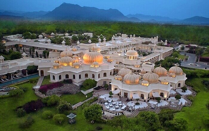 Aerial view of Oberoi Udaipur
