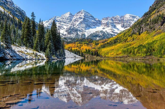 beautiful maroon lake in aspen