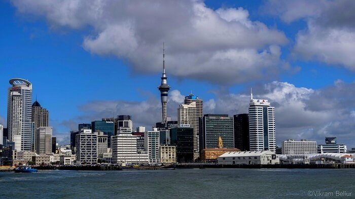 view of the auckland city from the pier