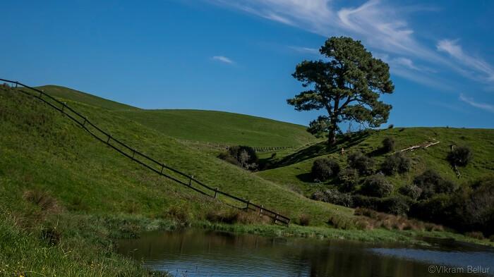 Hobbiton village set in new zealand