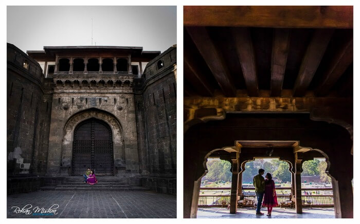 Fort Shaniwar Wada pre wedding photoshoo